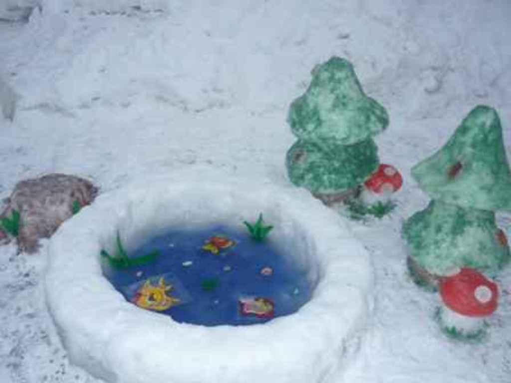 Поделки из снега  фото